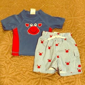 Nursery Rhymes rash guard set size 9 months